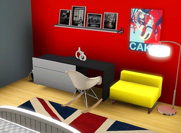 Chambre Gris Et Rouge Ado : ... chambre ado fille gris et rouge ...
